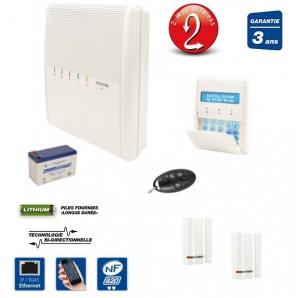 RISCO Agility, IP, NFA2P, 2 DO sans fil pour maison ou appartement