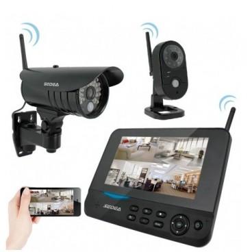 Kit de vidéosurveillance sans fil 2 caméras + enregistreur Cam Vision