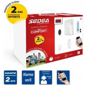 Alarme Pack Confort sans fil SEDEA avec Télésurveillance SECURITAS