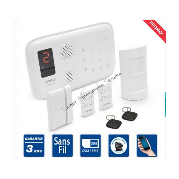 alarme sans fil maison fabulous kit alarme sans fil with alarme sans fil maison good de plus. Black Bedroom Furniture Sets. Home Design Ideas