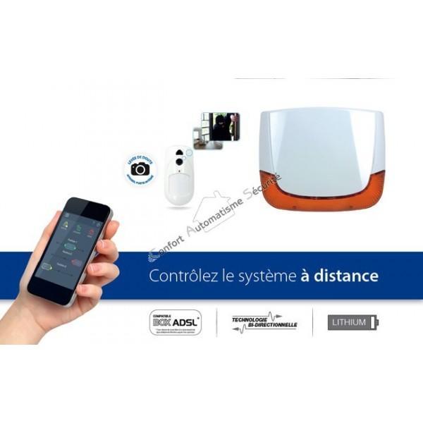 alarme sans fil nfa2p risco agility 3 ip gsm 3 pircam sir ne ext. Black Bedroom Furniture Sets. Home Design Ideas