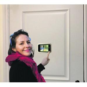 """Judas numérique écran 4"""" 10,00 cm (oeil de porte, oeilleton de porte, microviseur, caméra de porte)"""