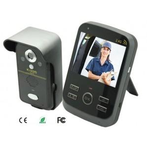 """Portier vidéo interphone écran 3,5"""" sans fil, enregistreur"""
