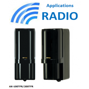 Barrière infrarouge sans fil AX-100TFR OPTEX