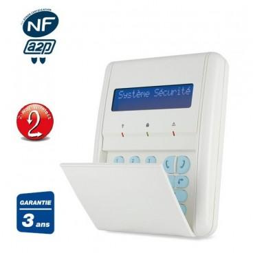 clavier lecteur de badges cran lcd nfa2p rw132kpp pour syst me d 39 alarme risco ou sedea. Black Bedroom Furniture Sets. Home Design Ideas