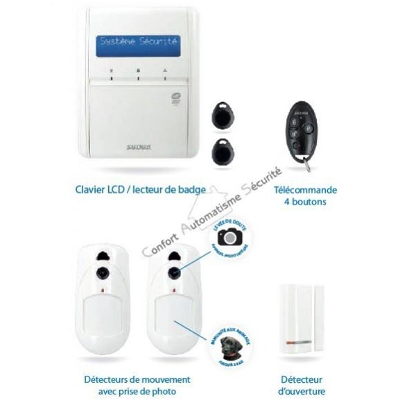 alarme sans fil tcp ip agility 3 pour maison ou appartement. Black Bedroom Furniture Sets. Home Design Ideas