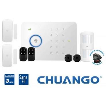 Système d'alarme GSM SMS Chuango G5 pour appartement ou maison 1-2 pièces
