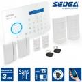 Système d'alarme sans fil GSM et RTC Sedea Elegante 100 pour appartement, maison ou locaux commerciaux